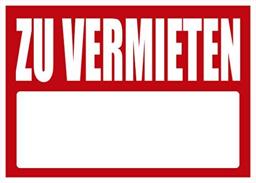 Schild Zu Vermieten 50x70cm | Zelluläres Polypropylen | Drucke in jeder Farbe | 4 Ösen inklusive