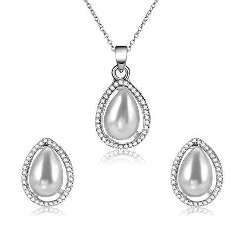 LUCKYYY Sieradenset, Kristallen Ketting Oorbellen Tweedelige Set, borstelige Sieraden, Geschikt voor Dames