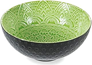Villa d'Este Home Tivoli 5903242 Baku Saladier 25 cm Gris/vert Porcelaine