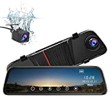 junsun Mirror Dash Cam Front and Rear 10 Inch Touch Screen Front 1080P