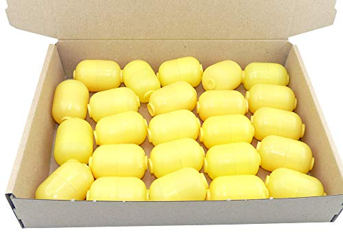 24 gelbe Überraschungsei Kapseln zweiteilig (Ü-Eier Kapsel von Ferrero)