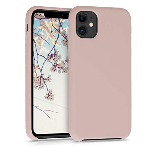 kwmobile Cover Compatibile con Apple iPhone 11 - Custodia in Silicone TPU - Back Case Protezione Cellulare Rosa Antico