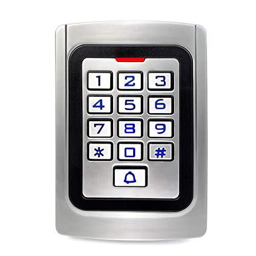 Retekess K10EM-W Access Control Keypad,Wiegand 26 PIN Code RFID Keypad,IP68 Waterpfoof,Garage Keyless Entry Pad,2000 Users,Door Keypad