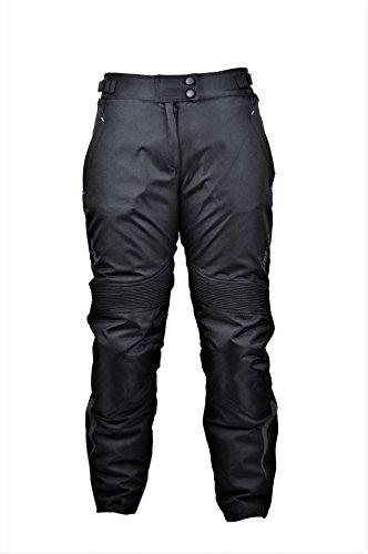 Zerimar KENROD Damen Motorradhose Cordura Motorradhose Moto Hose mit Protektoren Farbe Schwarz Größe XXL