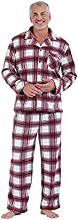 Image of Comfy Red and White Fleece Christmas Pajamas for Men - See More Holiday PJs