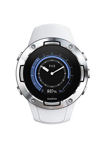Suunto 5 Multisport GPS watch, adult unisex, mineral glass, stainless steel, silicone, white, SS050300000