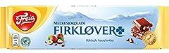 Freia Firklover Milk Chocolate with Hazelnut Bar Produced in Norway!