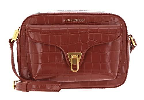 Coccinelle Beat Croco Shiny Soft Crossover Bag Cinnamon