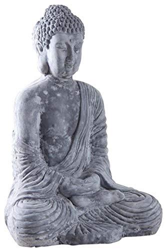 AUBRY GASPARD Bouddha Assis Fibre de Ciment