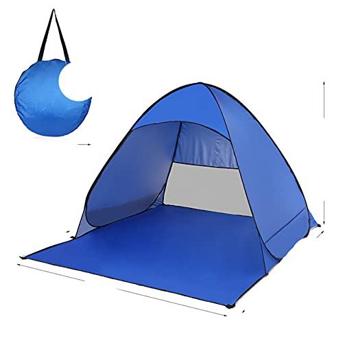 Leichte Strandzelt Markise Automatikzelt UV-Schutz im Freien Cabana Sun Shade Travel Camping Touristenzelte - Königsblau, China