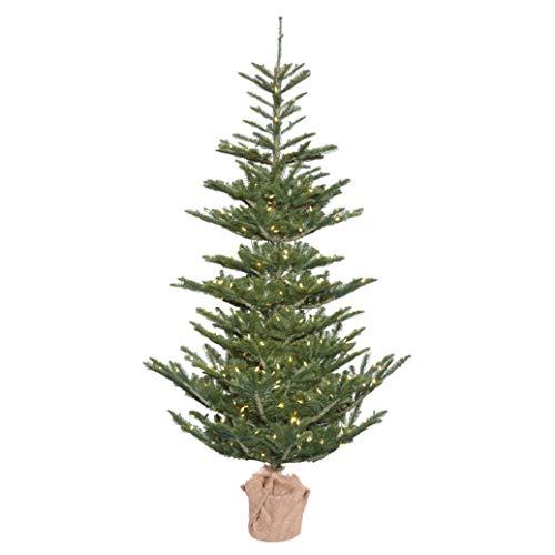 Vickerman 4' Alberta Spruce Artificial Christmas Tree, Warm White Dura-lit LED Lights - Faux Christmas Tree - Seasonal Indoor Home Decor