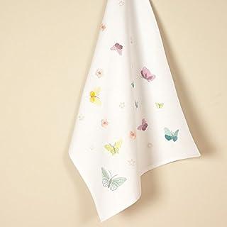 Rico Design Schmetterlinge-Set Geschirrtuch, 100% Baumwolle, Mehrfarbig