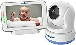 "CasaCam BM200 Video Baby Monitor with 5"" Touchscreen and HD Pan & Tilt Camera, Two Way Audio, Lullabies, Nightlight, Autom..."