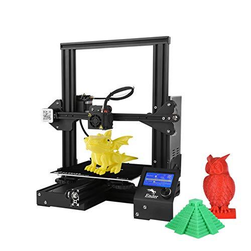 Stampante 3D Ender 3 Stampante 3D professionale fai-da-te ad alta precisione Dimensioni di stampa 220 x 220 x 250 mm con multifunzione