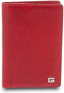 GIUDI ® - Porta passaporto in pelle vacchetta, custodia passaporto, vera pelle, portafoglio, portatessere, Uomo Donna Unis...