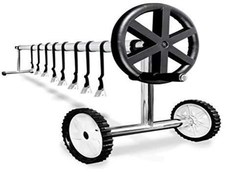 GRUPO EMBAL Enrollador para Piscinas de hasta 5,5m Acero Y Aluminio Tubo Reforzado