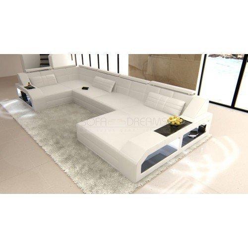 Juego de sofás Arezzo forma de U Blanco Diseñador Conjunto de Muebles Para Salón Sofá esquinero