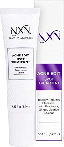 NxN Acne Edit Spot Treatment with Probiotics, Licorice Root, Ginger and Colloidal Sulfur, to rapidly reduce acne blemish size