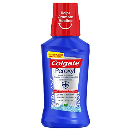 Colgate Peroxyl Mouth Sore Alcohol Free Oral Rinse, Mint, 237 mL