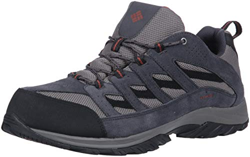 Columbia Men's Crestwood Waterproof Wide Hiking Shoe, Quarry, Burgundyy, 16 Wide US