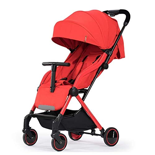 Sale!! TZZ Lightweight Baby Stroller Compact Pushchair with Double Brake, Adjustable Backrest Reclin...