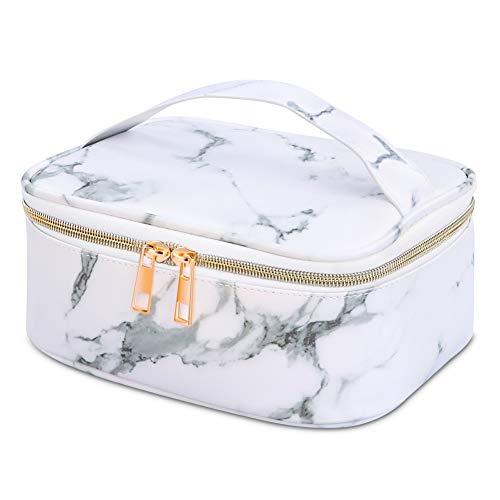 OUTOPE Kosmetiktasche Make Up Tasche, Marmor Schminktasche Kosmetikbeutel, Größe 22X16X9cm Waschtasche Waschbeutel mit Wasserdichte PU Leder für Damen (Taschenspiegel ist NICHT enthalten)