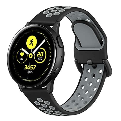 Wanme Cinturino per Samsung Galaxy Active 2 40mm 44mm , 20mm Cinturino, Ricambio in Silicone per Samsung Galaxy Watch Active 40 mm / Galaxy Watch 3 41mm / Gear S2 Classic / Gear Sport