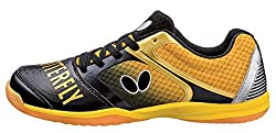 cheap Butterfly table tennis shoes, black / gold, 9