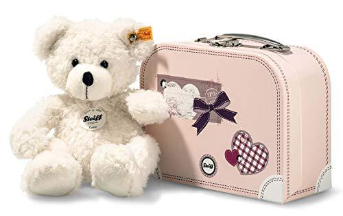 Steiff 111563 Lotte Teddybär im Koffer Plüschtier, Mehrfarbig