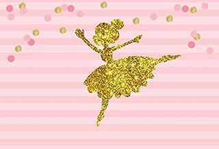AOFOTO 7x5ft Abstract Little Girl Ballerina in Tutu Dress Dancing Background Baby Shower Party Decoration Photography Backdrop Kid Children Ballet Birthday Banner Photo Studio Props Vinyl Wallpaper