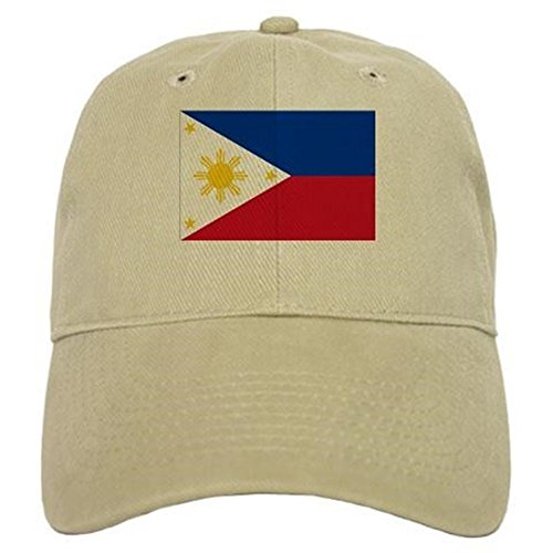 CafePress Filipino Flag Baseball Cap with Adjustable Closure, Unique Printed Baseball Hat Khaki