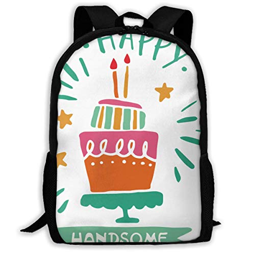 Lawenp Two Year Old Birthday Party Handsome Gift Adult Unisex Backpack Pretty Boy,kids Birthday Party Ideas