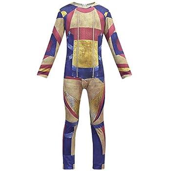 Magic SQ Jay Carlos Costume Halloween Cosplay Jumpsuit Bodysuit for Boys Mens  140/Height 51  -55   C1