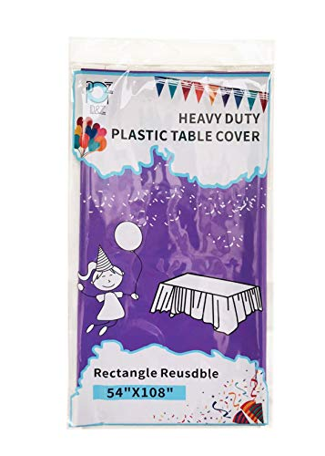 12 Pack Lavender Purple Plastic Tablecloth 54' X 108' Rectangle Heavy Duty Disposable Table Covers for Party Banquet Birthday Wedding Thanksgiving Christmas