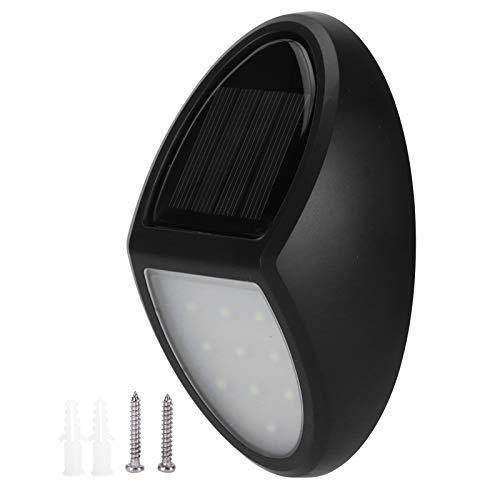 Aplique de pared, IP65 Luz de energía solar a prueba de agua Lámpara de pared para exteriores Luz de luz blanca pura, Placa de polisilicio incorporada, para decoración de jardín, patio, balcón