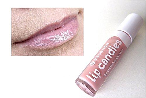 Essence Lip Candies beautifying lip care, Gloss à lèvres enrichi en aloe vera pour des lèvres douces et brillantes de couleur n°01 Candy crush, 4 ml, 0.13 fl.oz