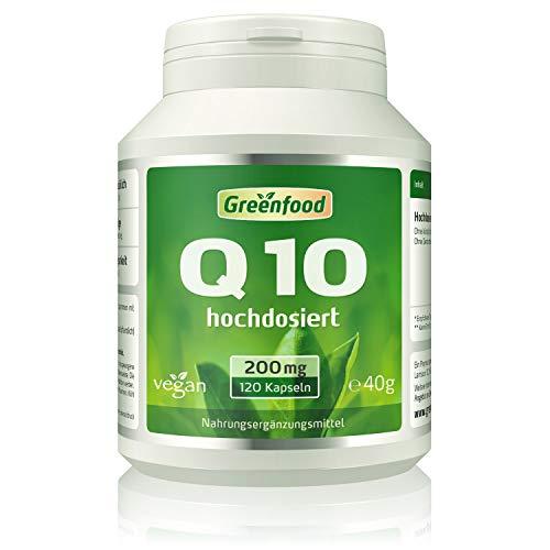 Q10, 200 mg, 120 Kapseln, vegan, extra hochdosiert - mit Vitamin E (erhöht die Aufnahme), natürlich gewonnen aus Algen, ohne Zusatzstoffe.