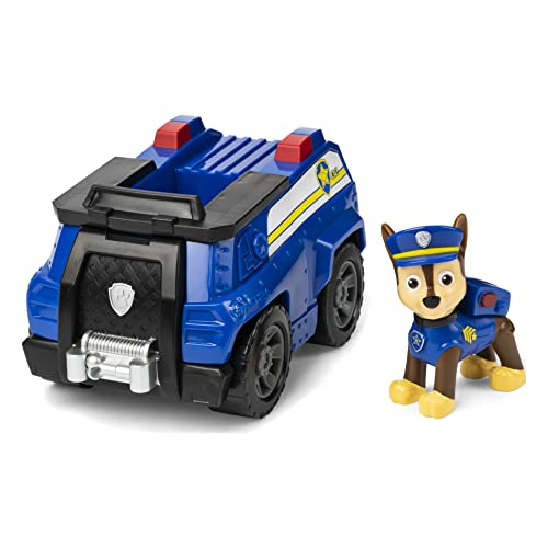 Paw Patrol, Chase's Patrol Cruiser Vehicle with Collectible Figure, for Kids Aged 3 and Up, Multicolor