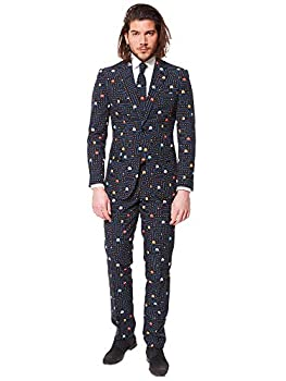 Opposuits Fun Everyday Party Suits for Men - Complete Retro Costumes with Jacket Pants and Tie in Funny Designs
