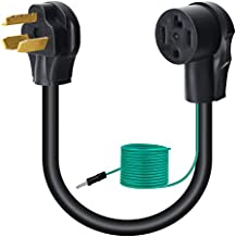 Dryer Adapter 4 Prong to 3 Prong Dryer Plug Adapter Cord 30 Amp Dryer Outlet Plug Power Cord, NEMA 10-30P Male to 14-30R Female, 250V, STW 10-AWG with Green Safety Ground Wire (Green Wire)