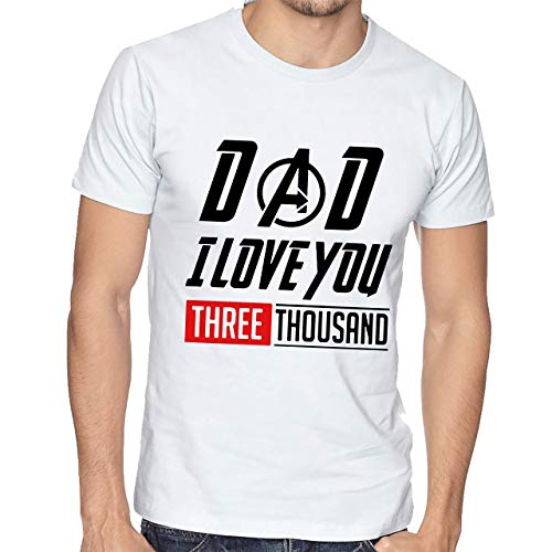 Playera Hombre Dia del Padre Papa Avengers Dad I Love You #563