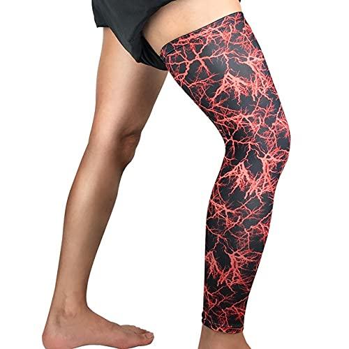 1 Uds, Calentadores de piernas de Baloncesto súper elásticos, Mangas de compresión para Muslo de Pantorrilla, Rodilleras, fútbol, Voleibol, Ciclismo