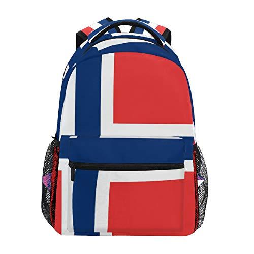 FANTAZIO Mochila extragrande con la bandera de Noruega