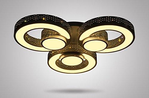 2036-Lámpara LED de techo (con mando a distancia, color de luz/brillo ajustable, acrílico, de pantalla lacada color blanco, marco de metal, clase de eficiencia energética: A +)