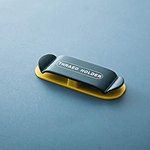ケーブルホルダー ケーブルクリップ デスク コンピュータデスク USBデータケーブル マウスライン キーボードライン 充電ケーブル ヘッドフォンケーブルの整理に適し 片づけ 高品質両面テープ 4本入れ (濃紺)