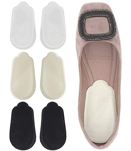 Dr. Foot's Orthopedic Medial & Lateral Heel Wedge Silicone Insoles for Supination & Pronation - O/X Type Leg Corrective Gel Adhesive Inserts - 3 Pairs (Beige+Black+Clear)