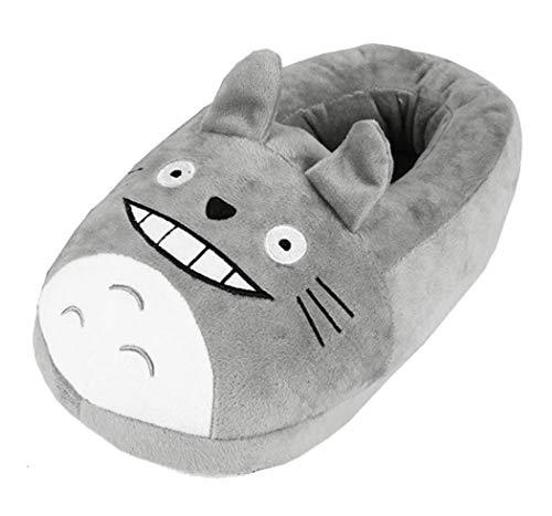 WANHONGYUE My Neighbor Totoro Anime Cosplay Indoor Hausschuhe Furry Slipper Slip On Shoes Slides Schuhe für Frauen und Männer 4