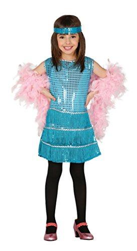 Guirca - Disfraz Charleston, talla 10-12 años, color azul (81553)