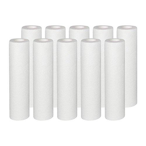 """10x Vyair 10""""PP 5Micron Melt blown partículas/sedimentos/cartucho de filtro de agua de ósmosis inversa para eliminar arena, Limo, la suciedad y óxido partículas"""