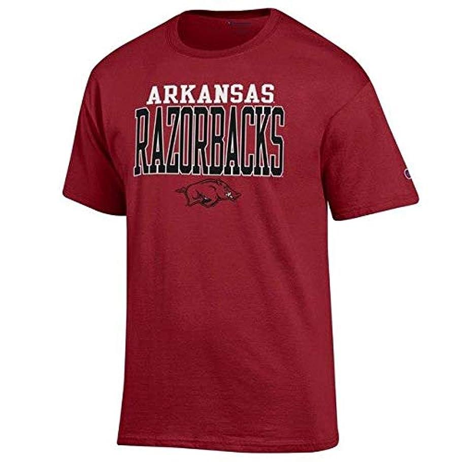 荒野海嶺エジプトChampion Champion Arkansas Razorbacks Cardinal Core Mascot T-Shirt スポーツ用品 【並行輸入品】